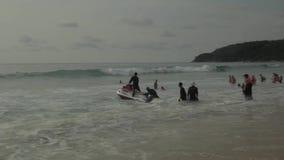 High-speed water bike stock video footage