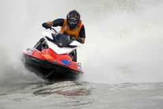 High-speed Water Jetski Royalty Free Stock Photos