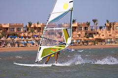 High Speed Windsurfer Stock Image