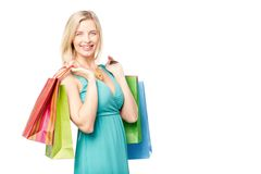 High spirits on shopping Stock Photos