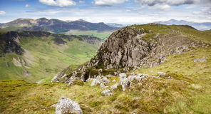 High Spy Approach. Approach to High Spy in the heart of the English Lake District royalty free stock photo