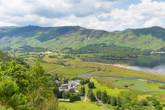 High Spy and maiden Moor mountains and Derwent Water Lake District south of Keswick elevated view Stock Images