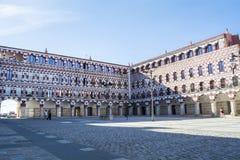 High square (Plaza Alta, Badajoz), Spain Stock Image