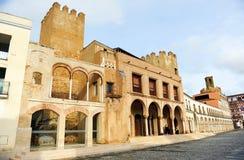 Plaza Alta and Alcazaba in Badajoz, Extremadura, Spain Royalty Free Stock Photo