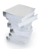 High stack of binder Stock Photography