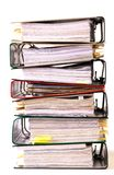 High stack of folders Royalty Free Stock Photos