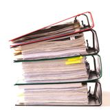 High stack of folders Stock Photos