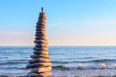 High stack of pebbles Royalty Free Stock Photos