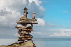 High stack of stones Royalty Free Stock Image