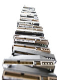 High stack of used hard drives Royalty Free Stock Image