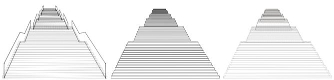 High Staircase Vector 07 Stock Image