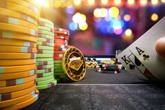 Free High Stakes Poker Game Royalty Free Stock Photo - 211244805
