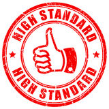 High standard rubber vector stamp Stock Photo