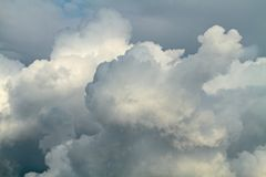 High and steely storm clouds. Rainy and windy weather approaching with high and steely storm clouds Royalty Free Stock Photography