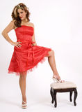 High stepping fashion Stock Images