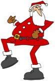 High stepping Santa Stock Photo