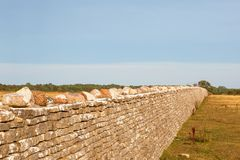 High stone wall Stock Photo
