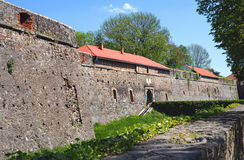 High stone walls of the Uzhhorod castle Stock Photography