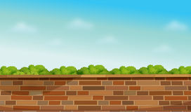 A high stonewall. Illustration of a high stonewall Royalty Free Stock Image