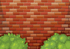A high stonewall. Illustration of a high stonewall Royalty Free Stock Photos