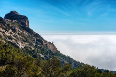High stony mountains in Busot. Alicante. Spain Royalty Free Stock Photo