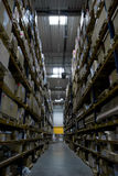 High storage rack warehouse Royalty Free Stock Photography