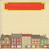 High Street Background. Background illustration of a faded vintage city on a paper texture vector illustration