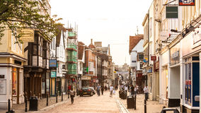 The High Street in Canterbury. Kent, England Royalty Free Stock Image