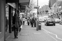 High Street in Kings Heath suburb of south Birmingham England Stock Image