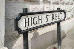 High Street road sign Stock Photo