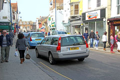 High street shoppers Stock Images