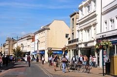 High Street shops, Cheltenham. Stock Photography