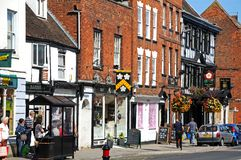 High Street shops, Tewkesbury. Stock Photo