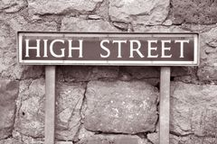High Street Sign Royalty Free Stock Image