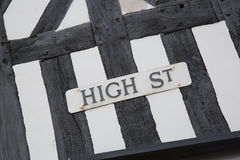 High Street Sign, England Stock Images