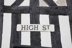 High Street Sign, England Stock Photo