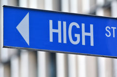 High street sign Royalty Free Stock Photography