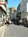 High Street, St. Ives, Cornwall. Stock Photo