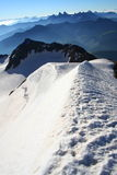 High summit. In the french alps. A very nice climbing Royalty Free Stock Image