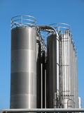 High tanks of silvery color Royalty Free Stock Photos