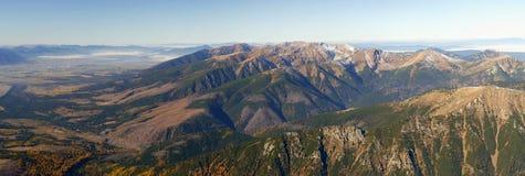High Tatars mountains panorama. Slovak highest mountain, the High Tatras Stock Image