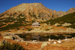 High Tatra Mountains. Valley of Five Polish Lakes, High Tatra Mountains, Poland, October 2010 Stock Photo