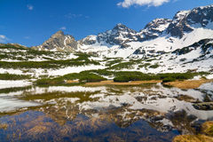 High Tatra Mountains, Karb and Koscielec Stock Photos