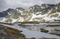 High Tatra Mountains near Rysy peak and Strbske Pleso Stock Photos