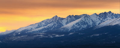 High Tatra Mountains panorama Stock Photos
