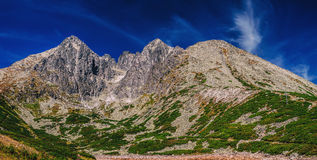 High Tatra Mountains. Panorama landscape Royalty Free Stock Photos