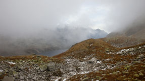 High Tatra Mountains,Poland. Autumn in five lakes valley in High Tatra Mountains. Poland Stock Photography