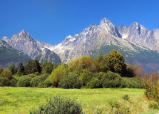 High Tatra Mountains in summer, Slovakia Royalty Free Stock Photos