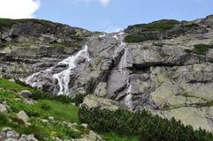 High Tatra mountains and waterfalls, Slovakia, Europe Stock Photo
