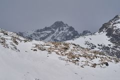 High Tatra mountains in winter stock images